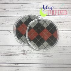 Red Argyle Everyday Nursing Pads