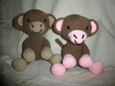Crocheted Monkey Stuffed Animal/Toy (Made to Order) Boy or Girl