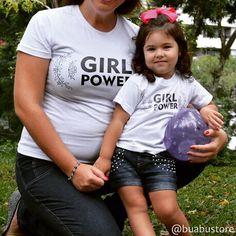 PODER FEMININO passado de geração pra geração!  Encontre esta estampa em www.buabu.com.br #talmaetalfilha #8demarço #diainternacionaldamulher #respeitoaoproximo #direitosiguais #mulhermoderna #mulherada #girlpower