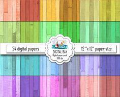 WOOD  Digital paper pack  Instant download  by DigitalBay on Etsy
