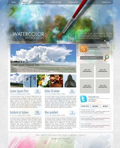 Create a Watercolor-Themed Website Design with Photoshop. psdtuts+/tutorials/interface