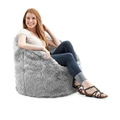 BeanSack Big Joe Milano Faux Fur Bean Bag Chair | Overstock.com Shopping - The Best Deals on Bean & Lounge Bags