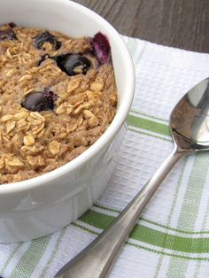 Blueberry muffin baked oatmeal.