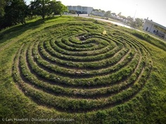 Isle of Gotland in Sweden -  the great Visby Trojaborg,  a labyrinth that could be 2,000+ years old. Image by Lars Howlett