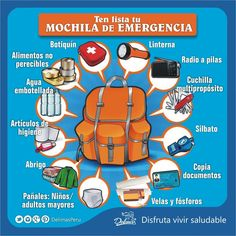 Ent& Lo Que Debe Contener La Mochila De Emergencia Emergency Backpack, Nuclear Disasters, Isaac Newton, Travel Info, Survival Guide, Good To Know, Life Hacks, Spanish, Language