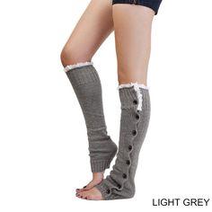Mulheres polainas crochet lace botão botas de malha meias de natal polainas meias polainas de inverno venda quente(China (Mainland))