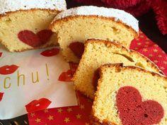 切っても切ってもハート♡なパウンドケーキの画像