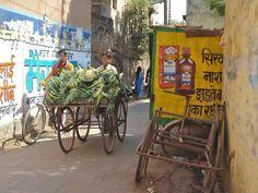 India Street, Indian Village, Varanasi, Advertising, Wall, Painting, India, Painting Art, Walls