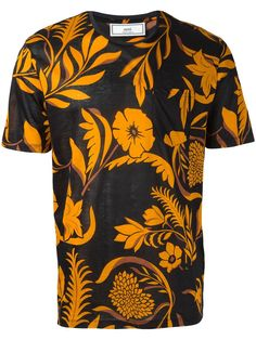 Ami Alexandre Mattiussi camiseta floral con bolsillo en el pecho