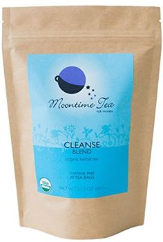 Organic Cleanse and Detox Tea for Women, 30 Tea bags with Mint, Dandelion Root and Burdock Root *** You can find out more details at the link of the image.