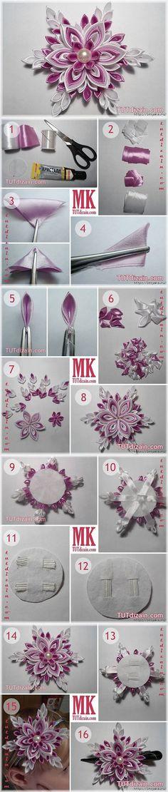 Post INTERESNYY_BLOG_LesyakaRu: Snowflake ribbons technique kanzashi (16:23 12-12-2013) [3925073/303205713] - ulchik3333@mail.ru - Mail Mail.Ru