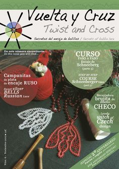 Vuelta y Cruz Nº6: Revista de bolillos / Twist and Cross N.6: Bobbin lace magazine (11€)