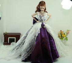 APHRODAI Fashion for FR Royalty Silkstone Barbie Model Gown Outfit Dress Wedding Bride. $49.99, via Etsy.