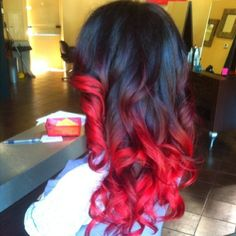 Dye My Hair Your Coloured Wild Laid Crazy Colours Red Ombre Gorgeous Color Colorful Maquillaje