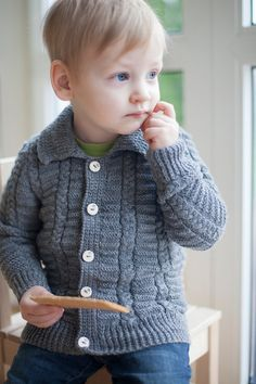 Sweater for children, dark gray, merino wool / Hand knitted cardigan for boy / toddler kids top / Children wool sweater / Toddler sweater