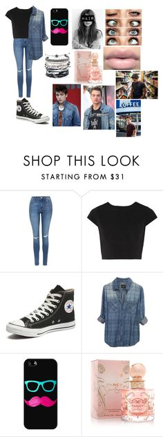 """""""Hanging w/Dylan"""" by jonas-bros02 on Polyvore featuring Topshop, Alice + Olivia, Converse, Rails, Casetify, Jessica Simpson, Domo Beads, women's clothing, women's fashion and women"""
