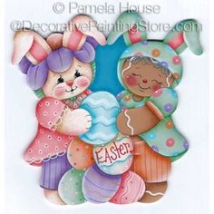 Gathering Easter Eggs by Pamela House