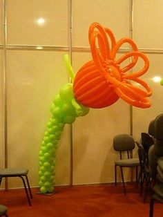 Flower Balloon Pillar