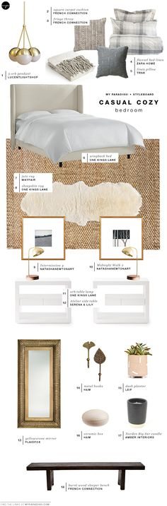 STYLEBOARD: Casual cozy bedroom   My Paradissi