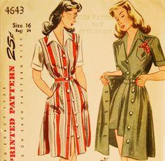 Vintage 1940s Simplicity Misses' Shorts Skirt by NostalgiaVintage2, $24.00