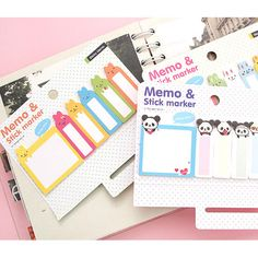2young Animal adhesive sticky memo notes set (http://www.fallindesign.com/2young-animal-adhesive-sticky-memo-notes-set/)