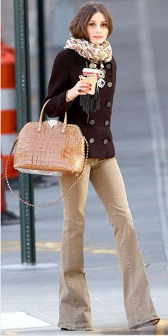 olivia palermo perfects a classic, tonal look yet again