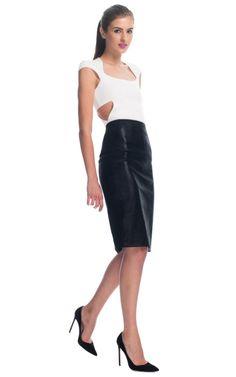 Sparkle Stretch Leather Skirt by Cushnie et Ochs for Preorder on Moda Operandi