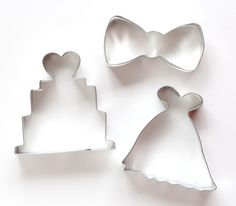 Wedding themed cookie cutters for bridal showers and weddings. You'll receive 3…