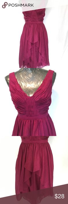ANTHROPOLOGY QUILLAREE DRESS Beautiful shade of color, top quality, strap snap closures at shoulders, zipperback, v back and front neckline, NWOTS, never worn, fully lined. Quillaree Dresses