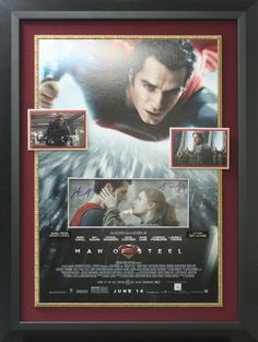 Signature Royale - Henry Cavill & Amy Adams Dual Signed Man of Steel Photo Display.