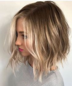 Natural colour with balayage blonde highlights
