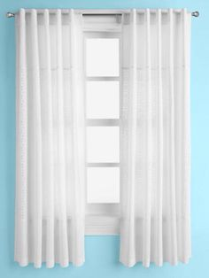 These curtains are just your basic white. Really pretty though, goes well with the room.