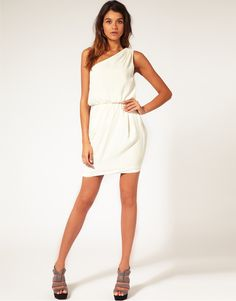 toga-esc white dress! Possible for Rush? maybe!