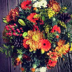 Autumn Floral Wreath, Bouquet, Barn, Wreaths, Autumn, Orange, Flowers, Plants, Home Decor