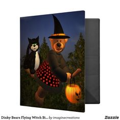 Dinky Bears Flying Witch Binder