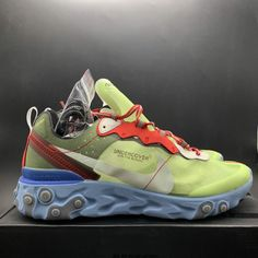 cd93926a6f19 Nike x Undercover Epic React Element 87 Volt Lakeside Colorways BQ2718-700