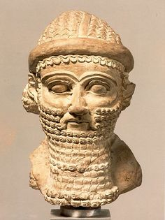 Babylon. Ceramic Head, ca late 8th/early 7th c. BC.