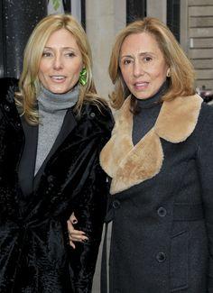 """Crown Princess Marie-Chantal of Greece with her mother María Clara """"Chantal"""" (née Pesantes Becerra) Miller."""