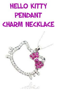 Hello Kitty Pendant Charm Necklace ~ $3.00 shipped!!  #hellokitty #necklaces