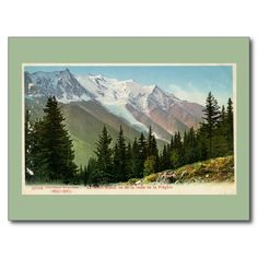 Vintage Mont Blanc view from the Flégère route postcards
