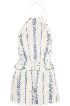 hydra embroidered playsuit / zimmermann