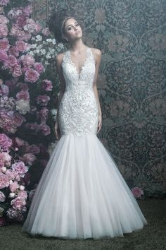 Wedding gown by Allure Couture.