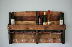 #diy Wine Rack From Etsy Made From A Recycled Pallet. Great For The Kitchen!