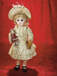 All-Original French Bisque Bebe by Emile Jumeau in Couturier Costume