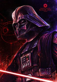 CyberClays — The Darkside - Star Wars: Rogue One fan art by. Star Wars Fan Art, Star Wars Rebels, Vader Star Wars, Darth Vader, Starwars, Cuadros Star Wars, Star Wars Tattoo, Star Wars Wallpaper, Movie Poster Art