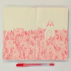 Last night's drawing // last spread in this sketchbook // #lcongdonsketchbook by lisacongdon