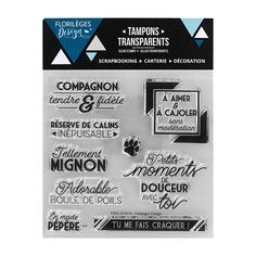 Tampons clear COMPAGNON FIDÈLE X3 Tampons Transparents, Scrapbooking, Bullet Journal Inspiration, Stencils, Toy Block, Future Tense, Ink, Creative Crafts, Words