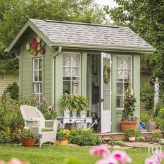 Lovely and Cute Garden Shed Design ideas for Backyard Part 22 ; garden shed ideas; garden shed organization; garden shed interiors; garden shed plans; garden shed diy; garden shed ideas exterior; garden shed colours; garden shed design Shed Design, Garden Design, Fence Design, Garden Cottage, Home And Garden, Spring Garden, Cool Sheds, Shed Colours, Shed Color Ideas