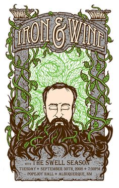 iron and wine at popejoy hall in albuquerque, 2008