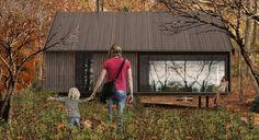 SKOGLY (DESIGN:OLE PETTER WULLUM / WWW.OLEPETTERWULLUM.NO) Sketch on a new series of cabins.